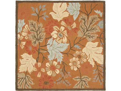 Safavieh Blossom 6' x 6' Square Rust / Assorted Area Rug