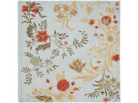 Safavieh Blossom 6' x 6' Square Blue / Assorted Area Rug