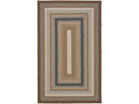 Safavieh Braided Rectangular Brown / Assorted Area Rug
