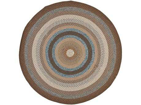 Safavieh Braided Round Brown / Assorted Area Rug