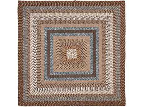 Safavieh Braided Square Brown / Assorted Area Rug