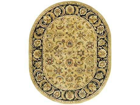Safavieh Classic 7'6'' x 9'6'' Oval Gold / Black Area Rug