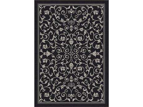 Safavieh Courtyard Rectangular Black / Sand Area Rug