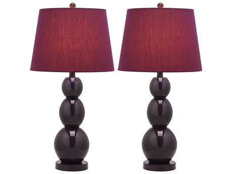 Safavieh Jayne Three Sphere Dark Purple Table Lamp (2 Piece Set)