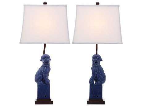Safavieh Foo Dog Navy Table Lamp (2 Piece Set)