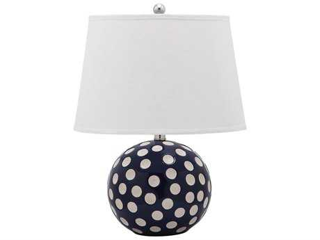 Safavieh Polka Dot Circle Navy & White Table Lamp (2 Piece Set)