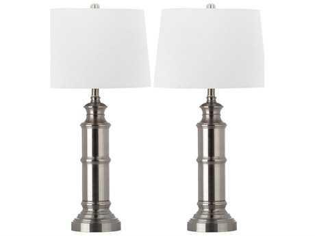 Safavieh Mariner Nickel Table Lamp (2 Piece Set)