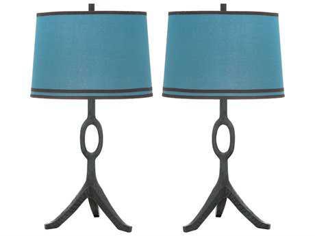 Safavieh Packwood Dusk Blue Table Lamp (2 Piece Set)