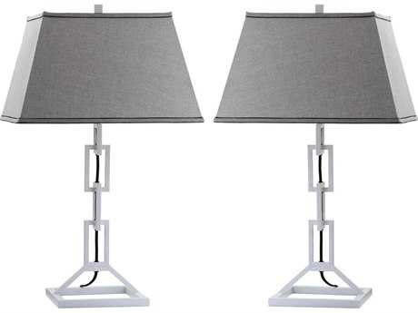 Safavieh Jamesville Winter White Table Lamp (2 Piece Set)