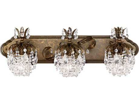 Crystal wall lights crystal wall sconce lighting luxedecor schonbek rondelle three light vanity light aloadofball Gallery
