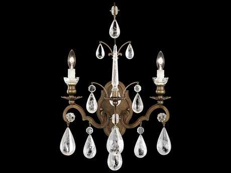 Schonbek Versailles Rock Crystal Two-Light Wall Sconce