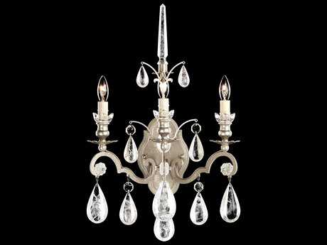Schonbek Versailles Rock Crystal Three-Light Wall Sconce