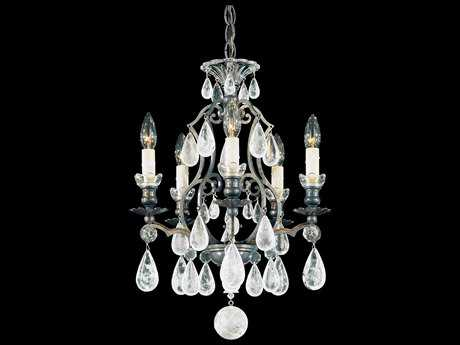 Schonbek Versailles Rock Crystal Five-Light 14'' Wide Mini Chandelier