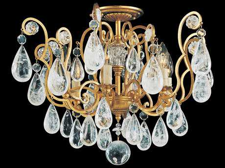 Schonbek Versailles Rock Crystal Six-Light Semi-Flush Mount Light