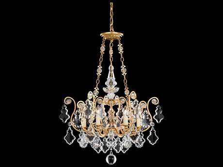 Schonbek Versailles Six-Light 21'' Wide Chandelier