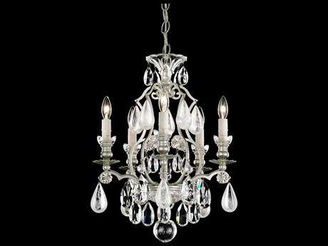 Schonbek Renaissance Rock Crystal Five-Light 14'' Wide Mini Chandelier