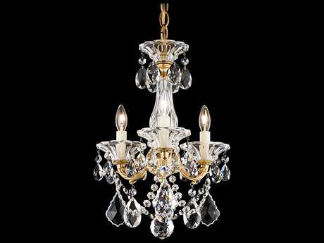 Schonbek La Scala Three-Light 12'' Wide Mini Chandelier