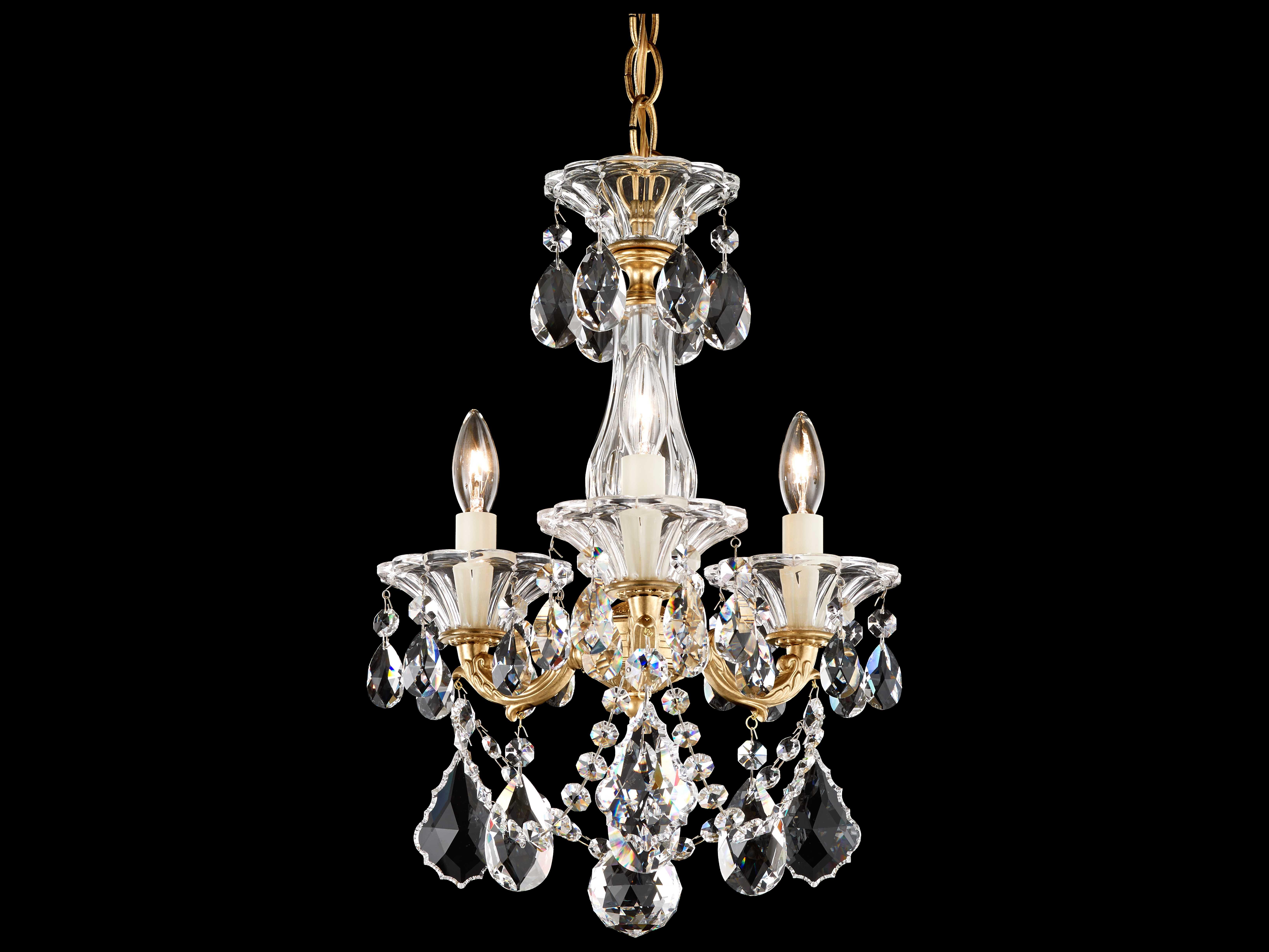 Schonbek La Scala Three Light 12 Wide Mini Chandelier