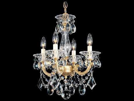 Schonbek La Scala Four-Light 14'' Wide Mini Chandelier