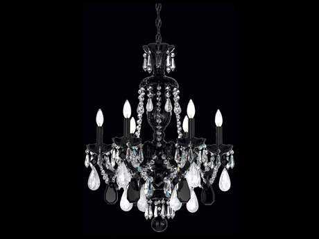 Schonbek Hamilton Rock Crystal Six-Light 22'' Wide Grand Chandelier