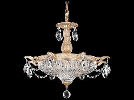 Schonbek Milano Three-Light 18'' Wide Mini Chandelier
