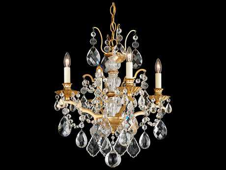 Schonbek Bordeaux Four-Light 17'' Wide Mini Chandelier