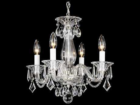 Schonbek mini chandeliers luxedecor schonbek allegro four light 14 wide mini chandelier mozeypictures Image collections