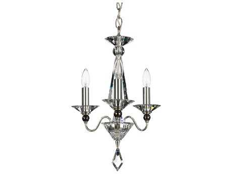Schonbek Jasmine Three-Light 12'' Wide Mini Chandelier