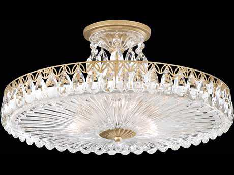 Schonbek Fontana Luce Three-Light 18'' Wide Semi-Flush Mount Light