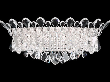Schonbek Trilliane Strands Four-Light 25'' Wide Wall Sconce