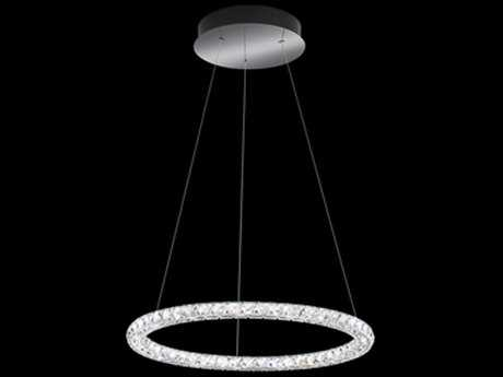 Swarovski Circle Stainless Steel 24'' Wide 15-Light Pendant Light - 3000K LED