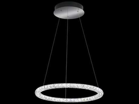 Swarovski Circle Stainless Steel 24'' Wide 15-Light Pendant Light - 4000K LED