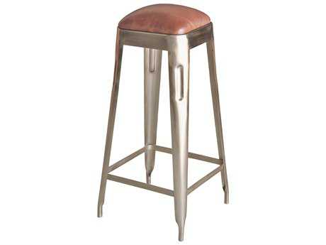 Sarreid Iron Nickel Metal Press Bar Stool