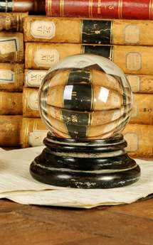 Sarreid Glass Ball On Black Base