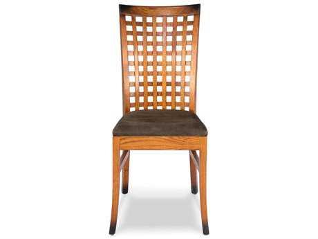 Sarreid Oak Lattice Dining Chair (Sold in 2)