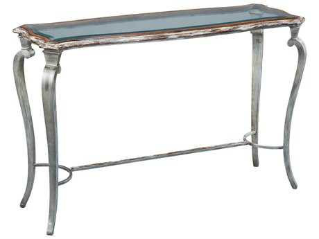 Sarreid Cappuccino & Aged Steel 54''W x 18''D Rectangular Console Table