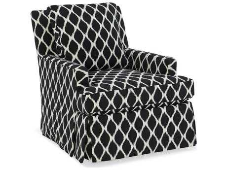 Sam Moore Iris Skirted Swivel Club Chair
