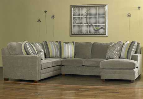 Sam Moore Ricky Sectional Sofa with Right Arm Chaise