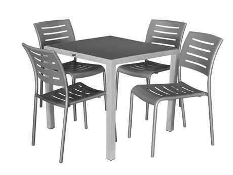 Source Outdoor Furniture Adele Aluminum Casual Patio Dining Set