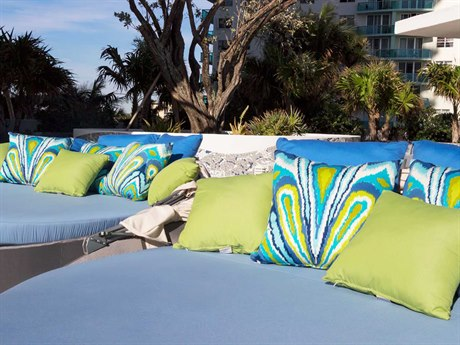 Source Outdoor Furniture Aqua Aluminum Day Bed Lounge Set