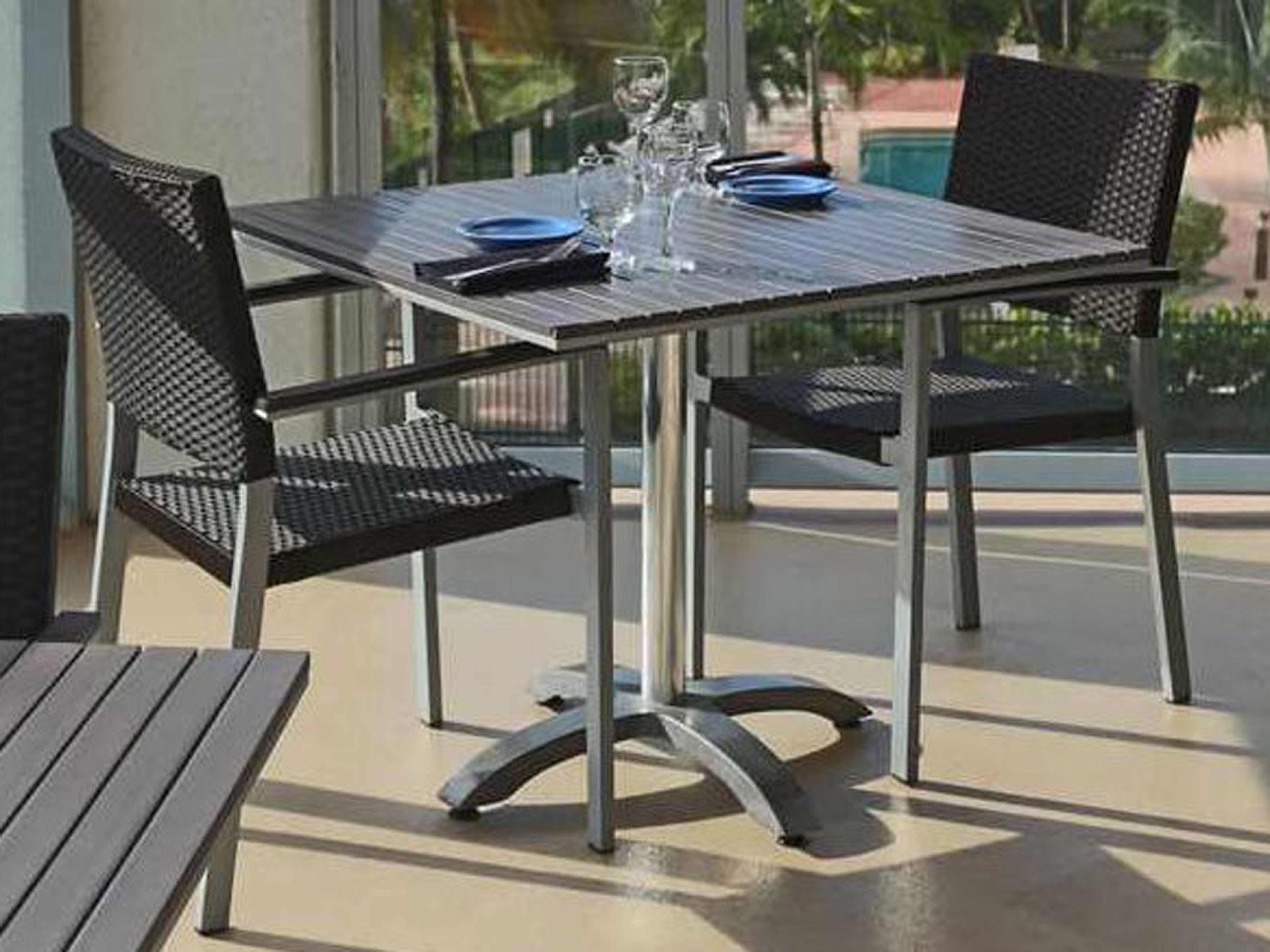 Source Outdoor Furniture Palm Aluminum 4 Hd Table Base
