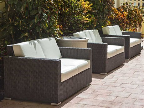 brown set patio source outdoor. Source Outdoor Furniture Lucaya Wicker Lounge Set Brown Patio