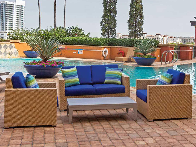 Source outdoor furniture lucaya wrap aluminum loveseat for Source outdoor furniture