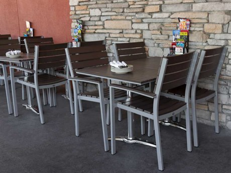 source outdoor furniture napa aluminum dining set bar side a