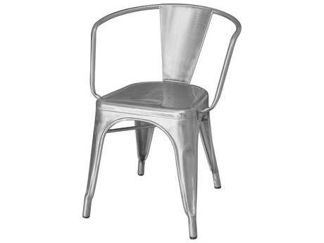 Source Outdoor Furniture Fremont Steel Dining Arm Chair