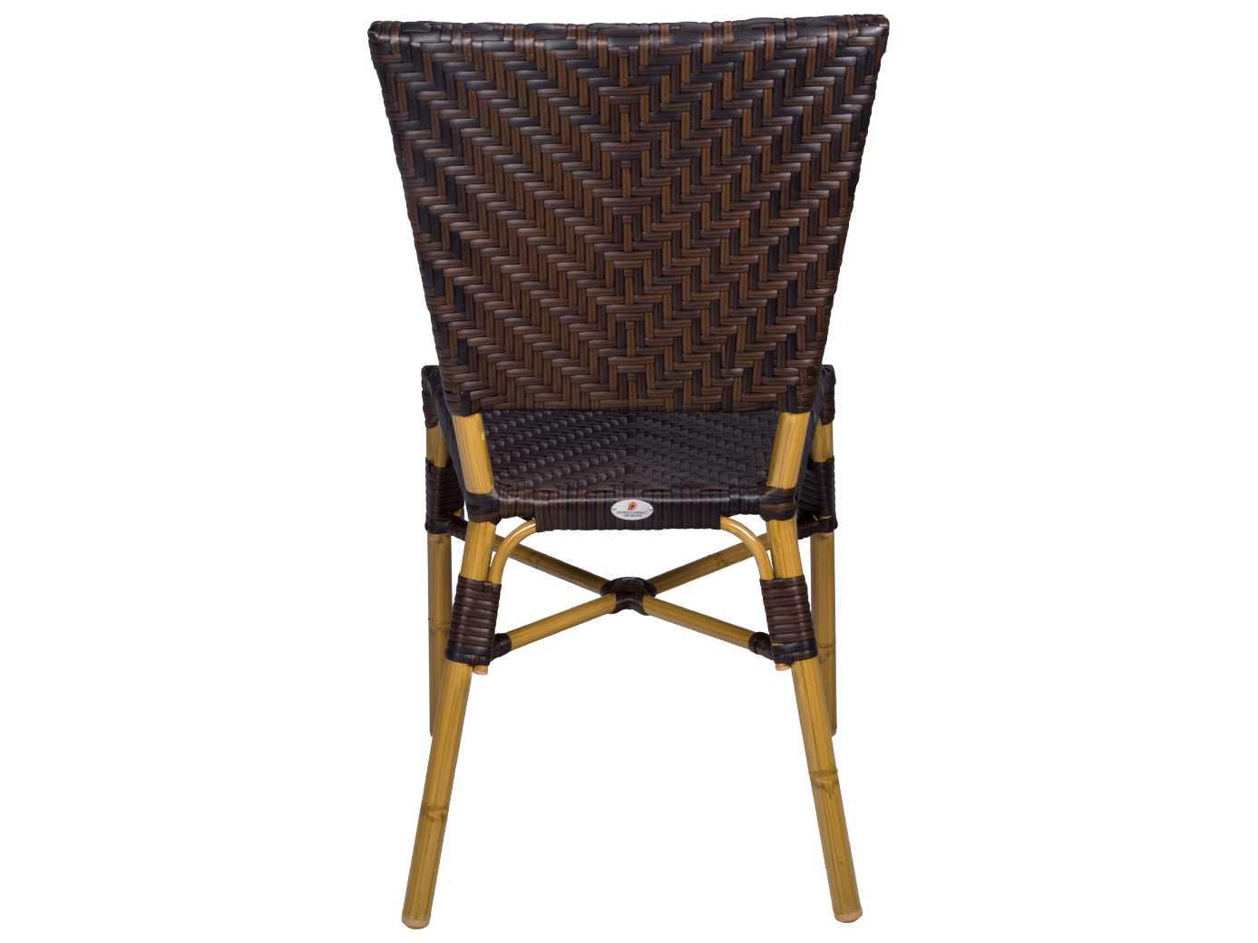 Source outdoor furniture capri wicker dining side chair for Source outdoor furniture
