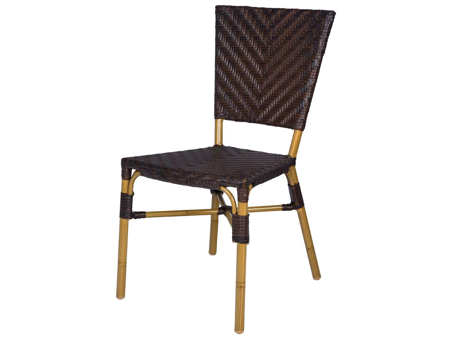 Source Outdoor Furniture Capri Wicker Dining Side Chair Sc 2202 162