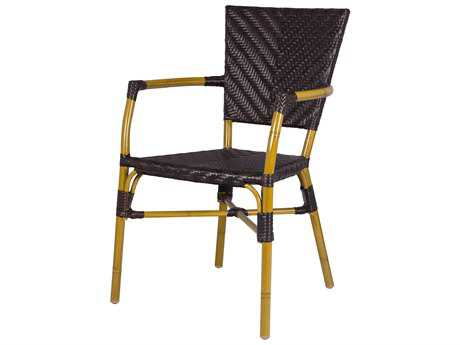 Source Outdoor Furniture Capri Wicker Dining Arm Chair - Source Outdoor Wicker Furniture - PatioLiving