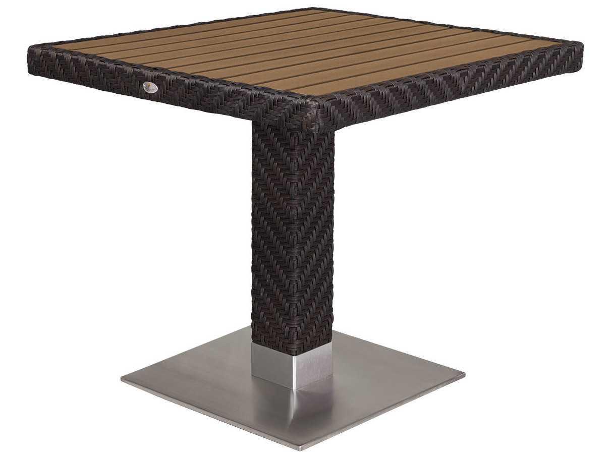 Source outdoor furniture arizona wicker 32 square dining for Source outdoor furniture