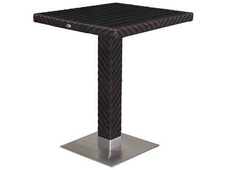 Source Outdoor Furniture Arizona Wicker 32 Square Bar Table